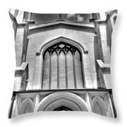 Trinity Episcopal Cathedral Black And White Throw Pillow