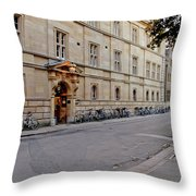 Trinity Hall In The Evening. Cambridge. Throw Pillow
