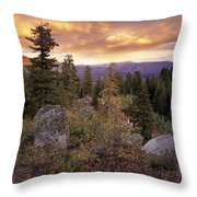 Trinity Mountains Throw Pillow