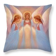 Trinity Of Angels Throw Pillow