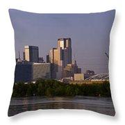 Trinity River Dallas 3 Throw Pillow