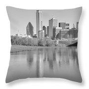 Trinity River Panorama Throw Pillow