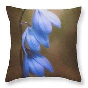 Trio Of Spring Flowers Throw Pillow