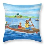 Trip To Lake Kivu In Congo Throw Pillow