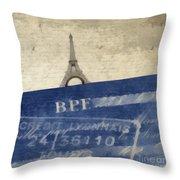 Trip To Paris Square Pillow Size Throw Pillow