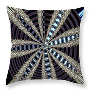 Triple Abstract Throw Pillow