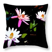 Triple Beauties Throw Pillow