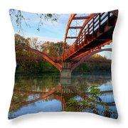 Triple Bridge Throw Pillow