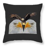 Triple Eagle Throw Pillow
