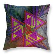 Triple Harmony Throw Pillow