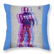 Triple Robocop Rbp Throw Pillow