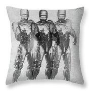 Triple Robocop Throw Pillow