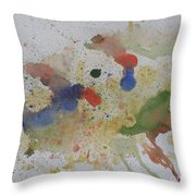 Triple Rooster Race Throw Pillow