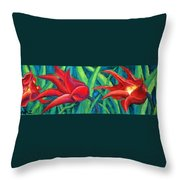 Triple Tease Tulips Throw Pillow