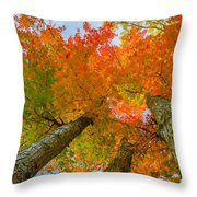 Triple The Maples Throw Pillow