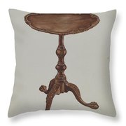 Tripod Table Throw Pillow