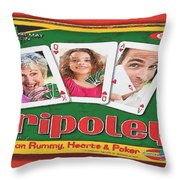 Tripoley Board Game Painting Throw Pillow