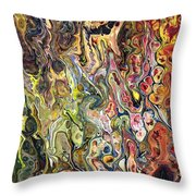 Trippin' In The 70's Throw Pillow