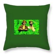 Trippin With Cheech And Chong Throw Pillow