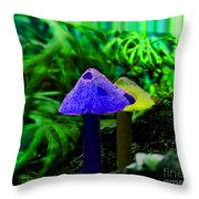 Trippy Shroom Throw Pillow