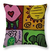 Trippy Vibes Throw Pillow
