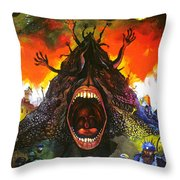 Screams Of Yesterday, Today And Tomorrow Throw Pillow