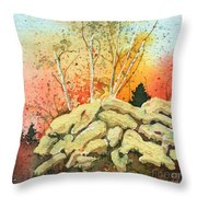 Triptych Panel 2 Throw Pillow