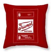 Triumph 1911 Throw Pillow
