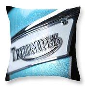 Triumph Badge Throw Pillow