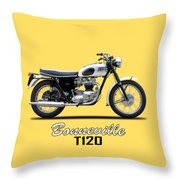 Triumph Bonneville 63 Throw Pillow