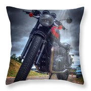 Triumph Bonneville  Throw Pillow
