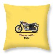 Triumph Bonneville T120 1968 Throw Pillow