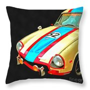 Triumph Gt Pop Art Throw Pillow