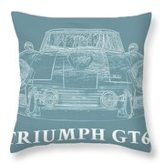 Triumph Gt6 Plus Throw Pillow