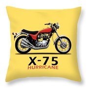Triumph Hurricane Throw Pillow