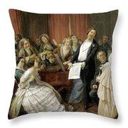 Triumph Of A Tenor At A Musical Matinee Throw Pillow