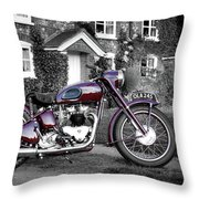 Triumph Speed Twin 1954 Throw Pillow