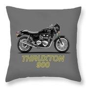 Triumph Thruxton Throw Pillow