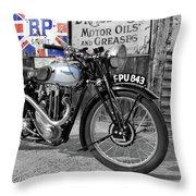 Triumph Tiger 80 Throw Pillow