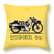 Triumph Tiger 90 1937 Throw Pillow