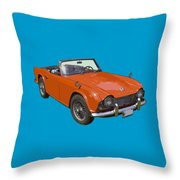 Triumph Tr4 - British - Sports Car Throw Pillow
