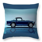 Triumph Tr5 1968 Painting Throw Pillow