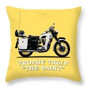 Triumph Tr6p - The Saint Throw Pillow