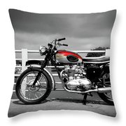 Triumph Trophy Tr6 1962 Throw Pillow