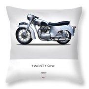 Triumph Twenty One 1957 Throw Pillow