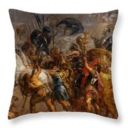 Triumphal Entry Of Henry Iv In Paris Throw Pillow