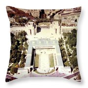 Trocadero Palais De Chaillot 1955 Throw Pillow