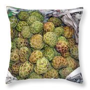 Troical Green Fruit 1 Throw Pillow