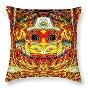 Bizzarre Pumpkin Head Throw Pillow