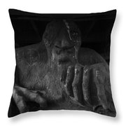 Troll Under Bridge Throw Pillow